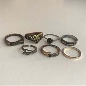 7-piece ring set